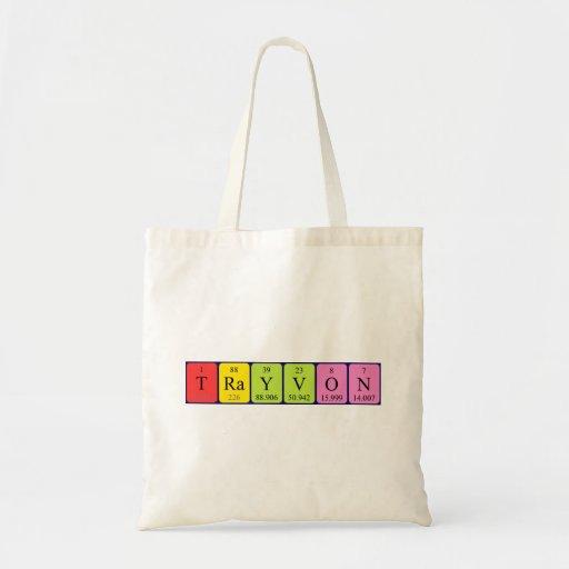 Trayvon periodic table name tote bag