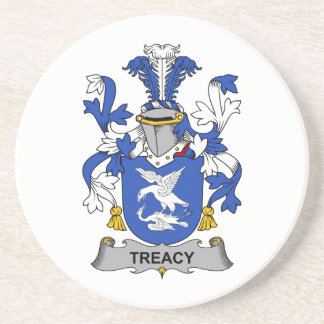 Treacy Family Crest Coaster