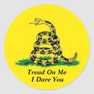 TREAD ON ME I DARE YOU STICKER