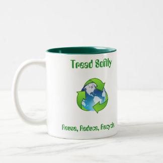 Tread Softly Reuse, Reduce, Recycle Mug Cup