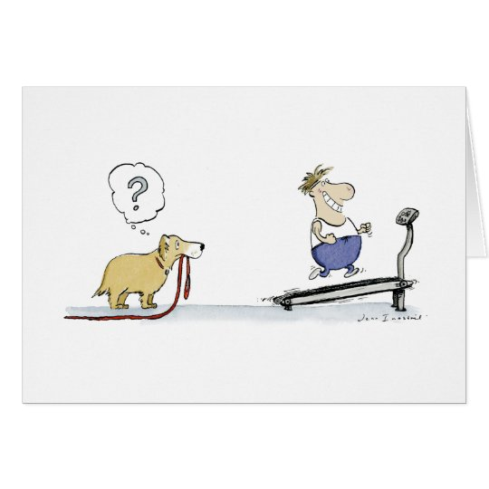 Treadmill Cartoon Card