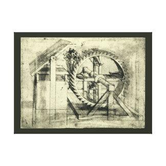 Treadmill Powered Crossbow by Leonardo da Vinci Canvas Print