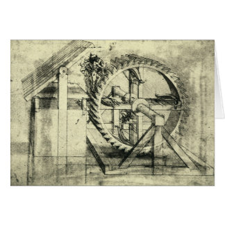 Treadmill Powered Crossbow by Leonardo da Vinci Card