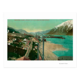 Treadwell, AK and Douglas City and Juneau in Postcard