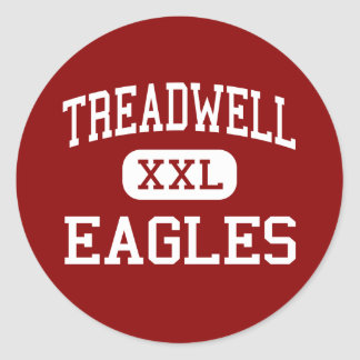 Treadwell - Eagles - High - Memphis Tennessee Classic Round Sticker
