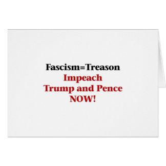 Treason -- Impeach Trump and Pence Card
