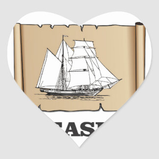 treasure at the high seas heart sticker