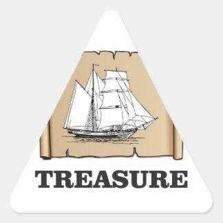 treasure at the high seas triangle sticker