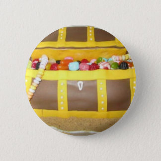Treasure chest cake 2 inch round button