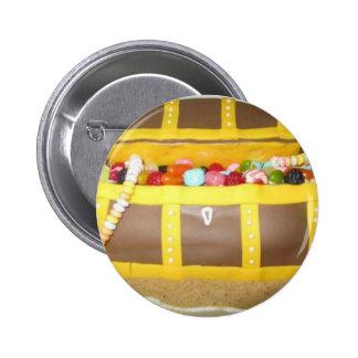 Treasure chest cake 2 inch round button