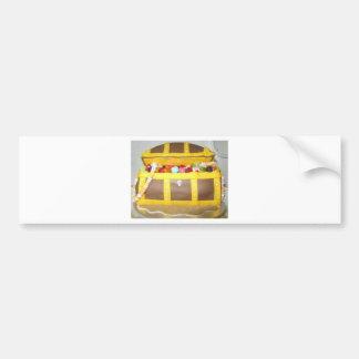 Treasure chest cake bumper sticker