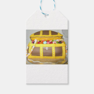 Treasure chest cake gift tags