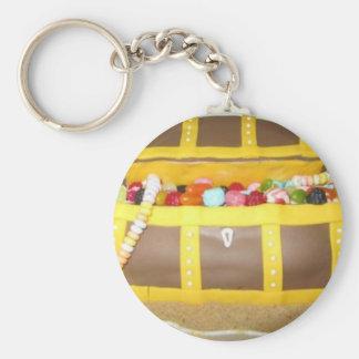 Treasure chest cake keychain
