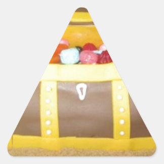 Treasure chest cake triangle sticker
