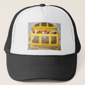 Treasure chest cake trucker hat