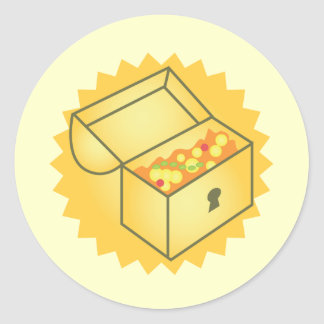 Treasure Chest Classic Round Sticker