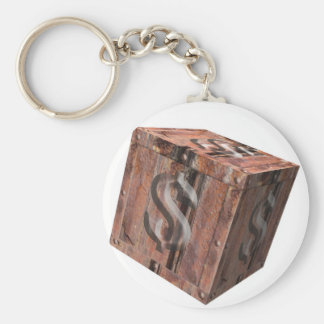 treasure chest - Dollars - national budget - finan Keychain