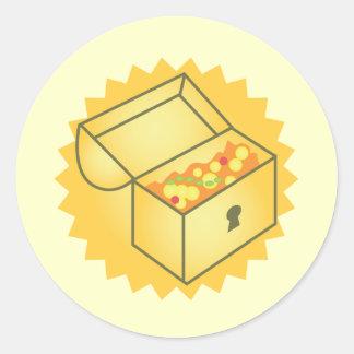 Treasure Chest Round Sticker