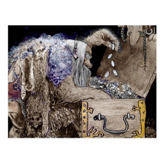 Treasure Chest Troll Postcard