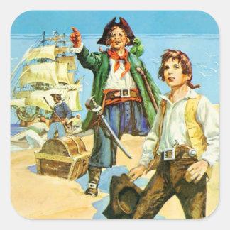 Treasure Island 1 Square Sticker
