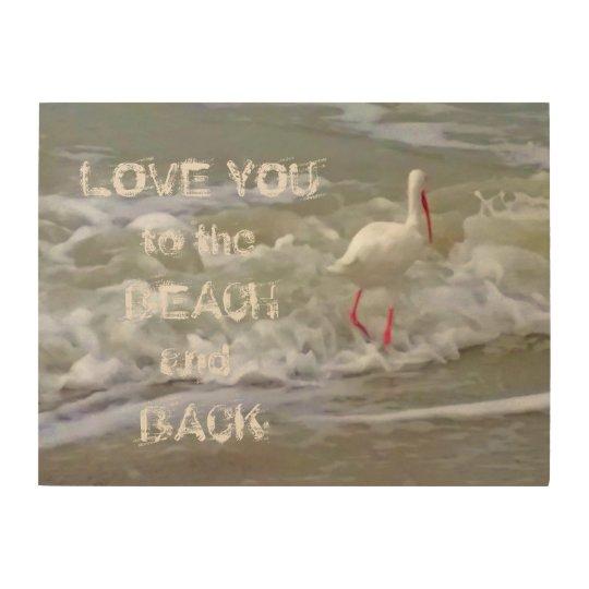 Treasure Island Beach Crane in the Surf Wood Wall Decor