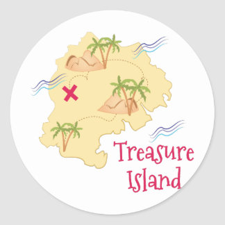 Treasure Island Classic Round Sticker