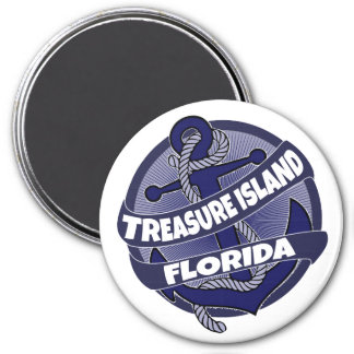 Treasure Island Florida anchor swirl magnet