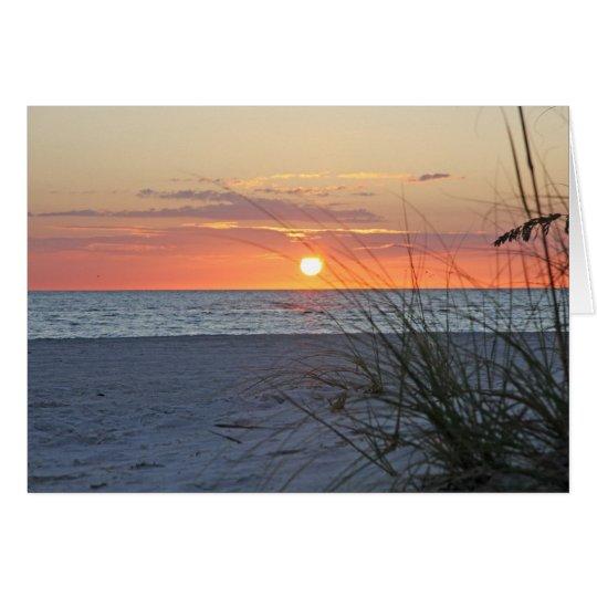 Treasure Island Sunset, Version C, Note Card