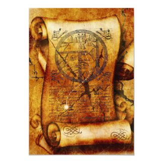 Treasure map ancient scroll birthday card