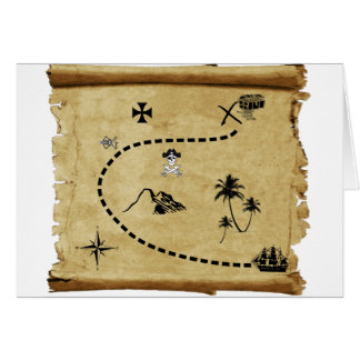 treasure map card