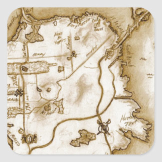 treasure_map_colored.jpg square sticker