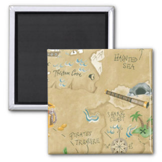 Treasure Map Magnet