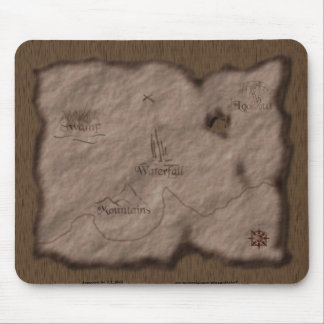 Treasure Map Mouse Pad