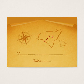 Treasure Map Place Card