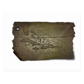 Treasure Map Postcard