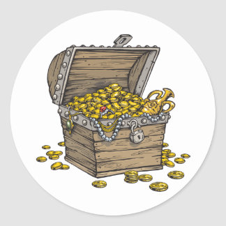 Treasure Round Sticker