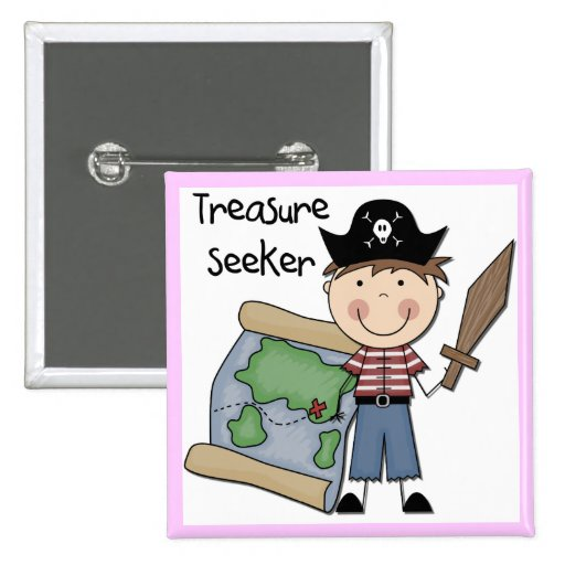 Treasure Seeker - Boy Tshirts and Gifts Pinback Button