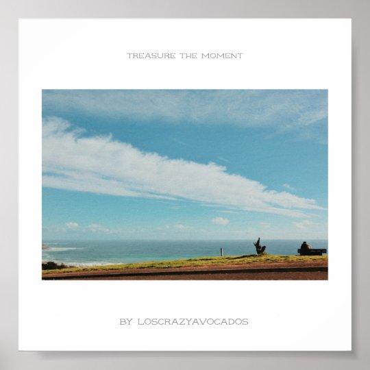 Treasure The Moment Man Bench Landscape Poster
