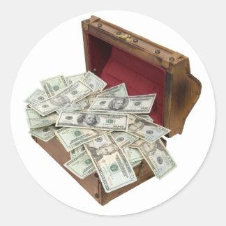 TreasureChestMoney100309 Round Sticker