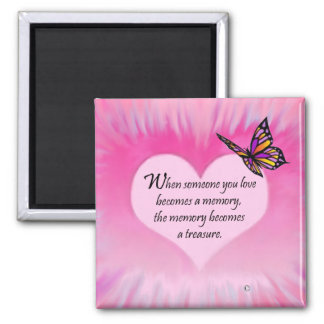Treasured Memories Butterfly Poem Magnet