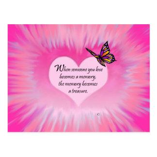 Treasured Memories Butterfly Poem Postcard