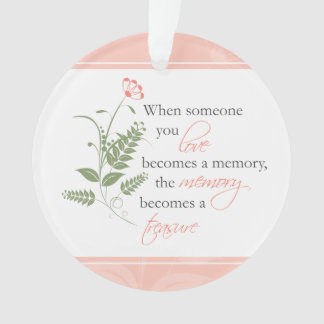 Treasured Memories Sympathy Bereavement Ornament