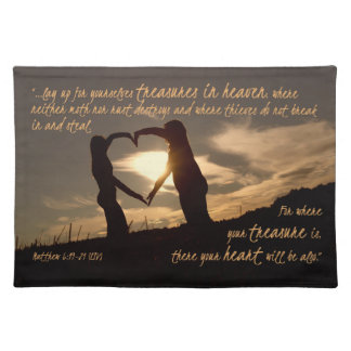 Treasures in Heaven Matthew 6:19-21 Bible Verse Placemat