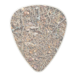 Treasures of the forest polycarbonate guitar pick