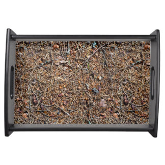 Treasures of the forest serving tray