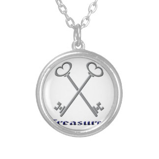 treasurfer silver plated necklace
