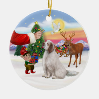 Treat - Clumber Spaniel Ceramic Ornament