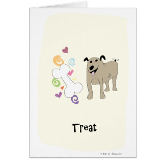 Treat Dog - Paw of Attraction Card
