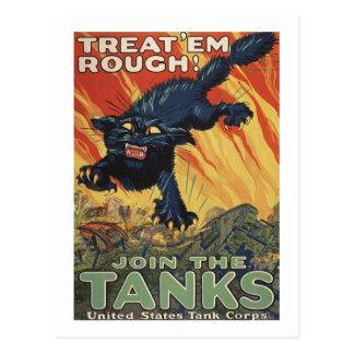 Treat Em Rough-1918 Postcard
