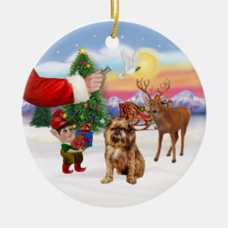 Treat for a Brussels Griffon Ceramic Ornament